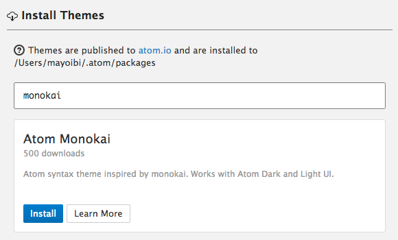Atom Tmeme Install GUI
